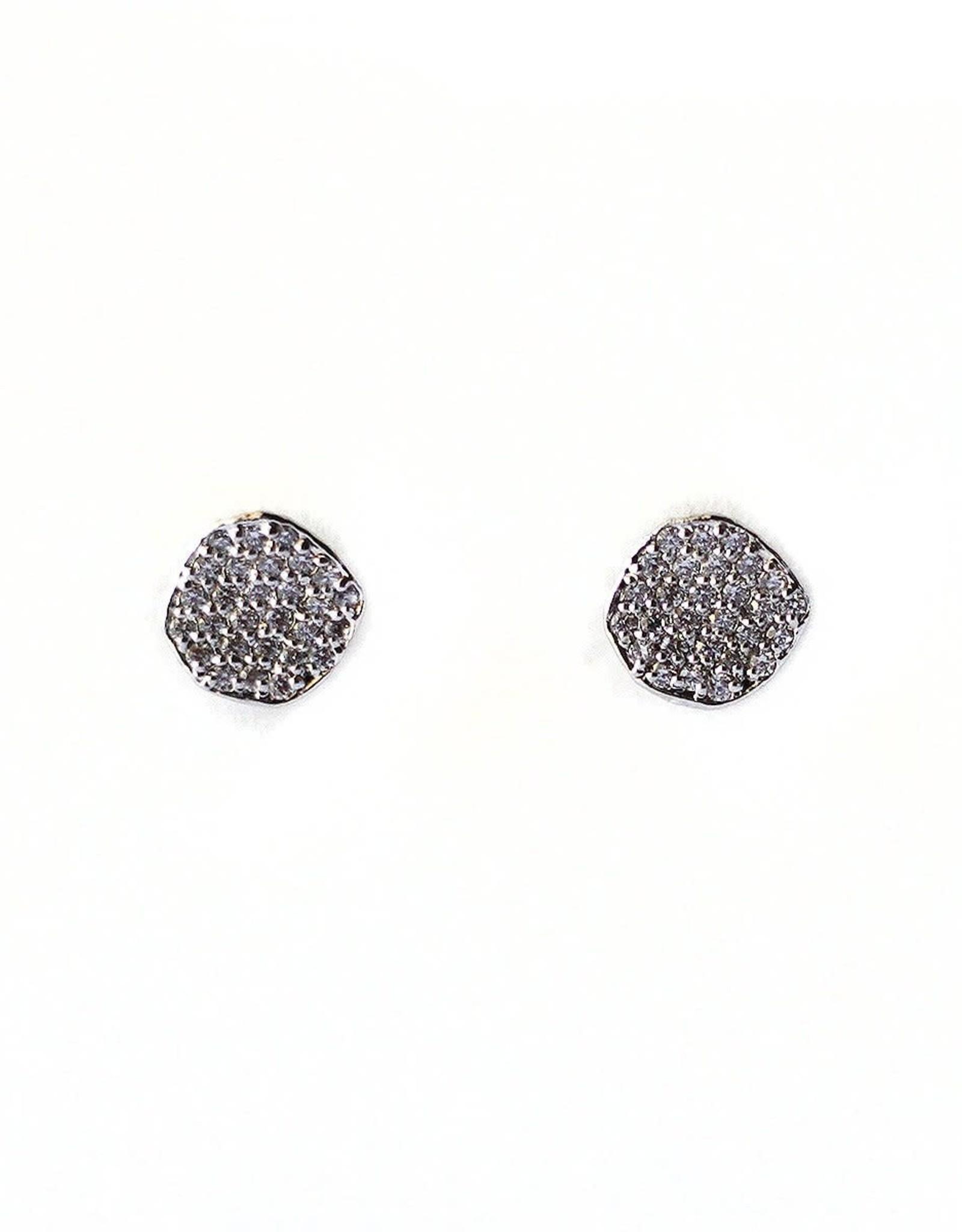 Tai Jewelry Tai Disc Stud Earring Style CZE1-DiscS