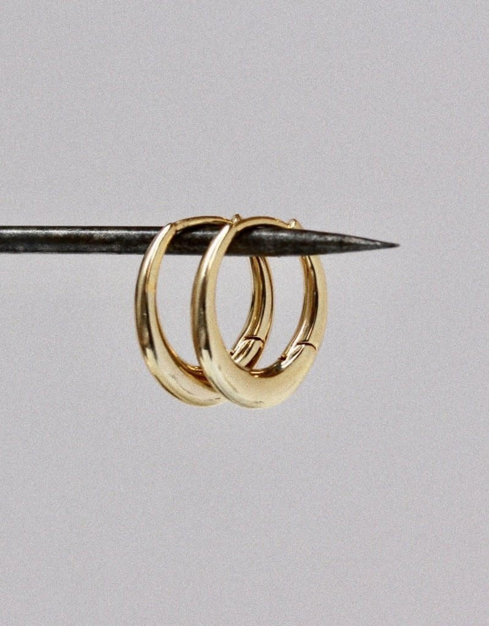 Tai Jewelry Tai Oval Shaped Single Hoop Style PE-12444G