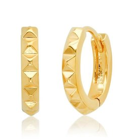 Tai Jewelry Tai 12mm Spiked Huggie Earring Style MSE-03