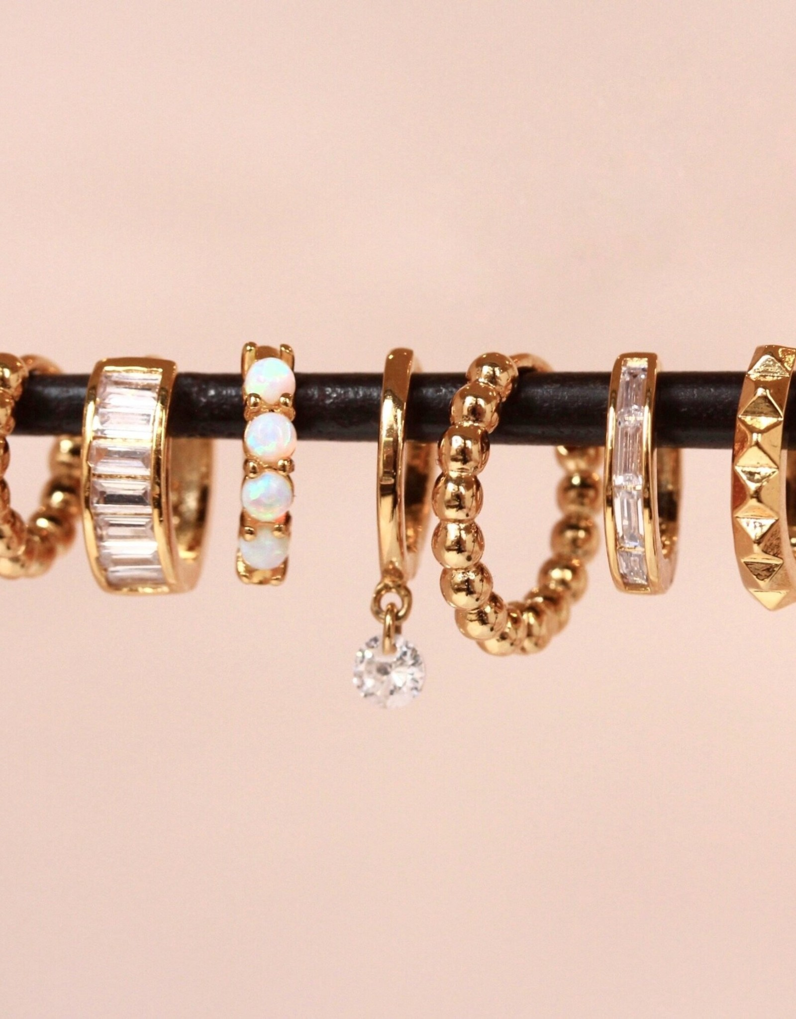 Tai Jewelry Tai 12mm Spiked Huggie Earring Style MSE-03