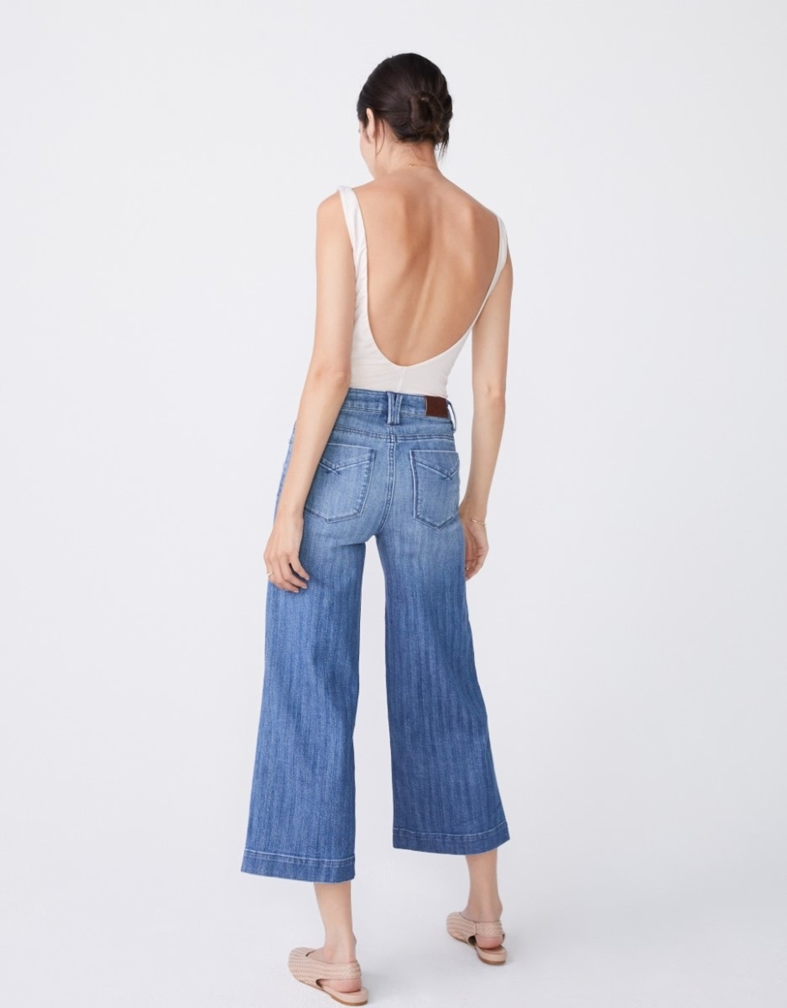 Unpublished Unpublished Greta Wide Leg High-Waist Crop Chevy
