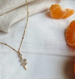 UNCVRD UNCVRD Diamond Snake Necklace