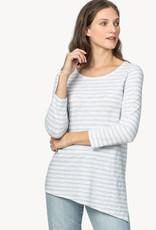 LillaP Lilla P Asymmetrical Tunic  Blue Stripe