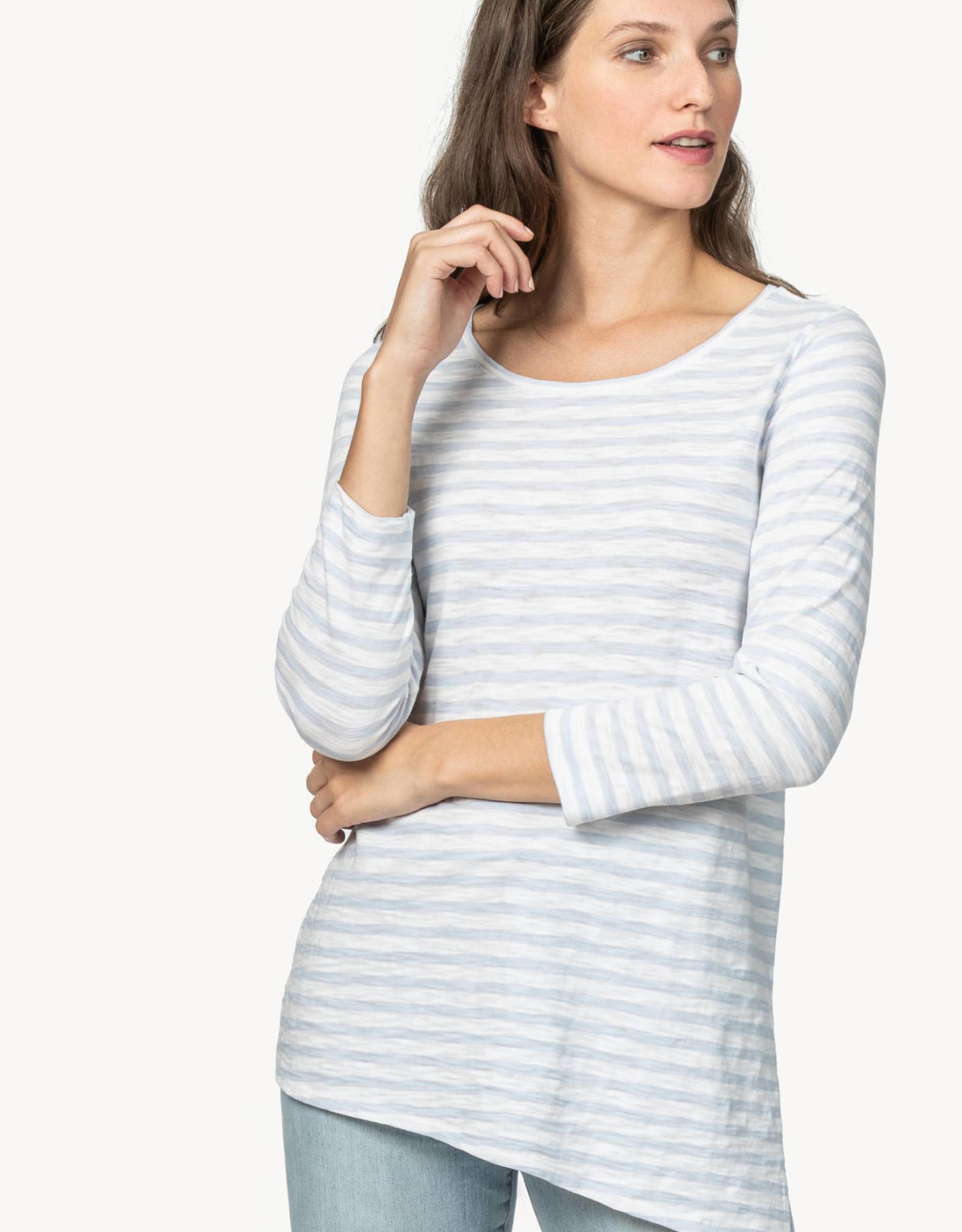 Lilla P Lilla P Asymmetrical Tunic  Blue Stripe