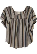 4 our Dreamers 4 Our Dreamers Stripe Puff Top