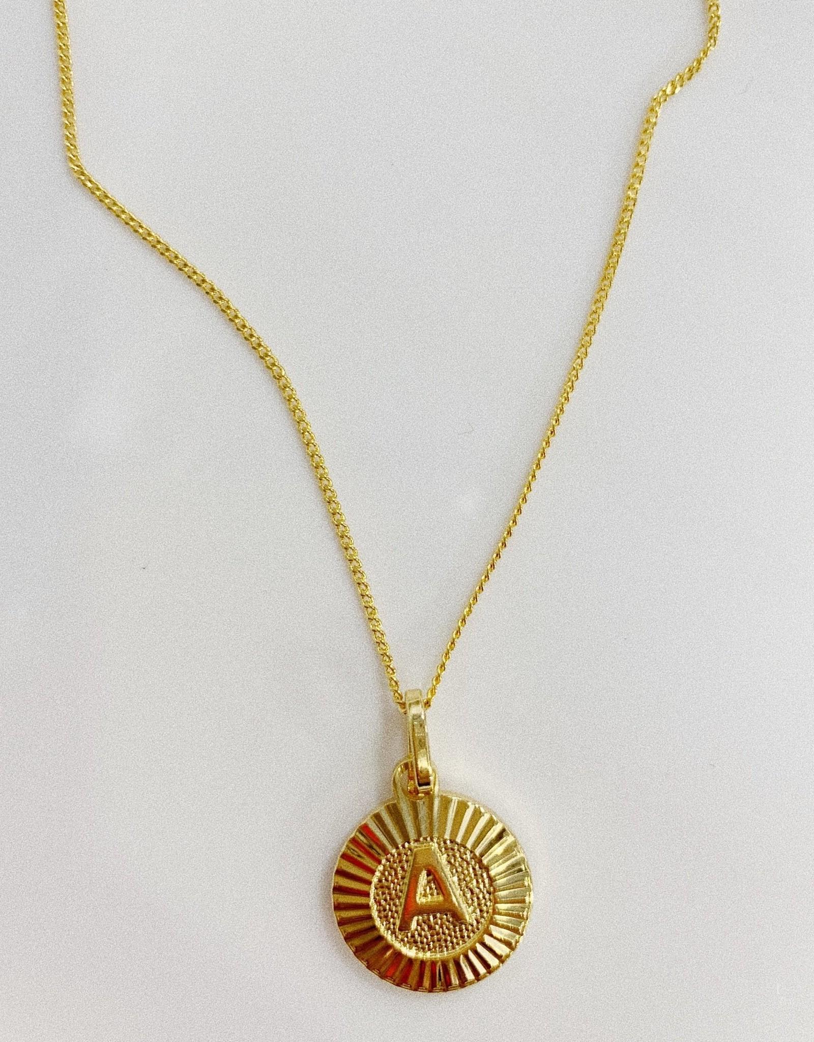 Bracha Bracha Initial Medallion