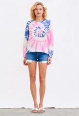 Sundry Sundry Tie Dye Crew Sweater