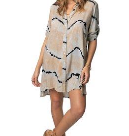 Khush Khush Chemise Clover Shirt Dress