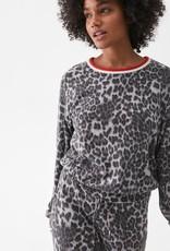 Michael Stars Michael Stars Madison Tate Sweatshirt Leopard