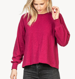 LillaP Lilla P Long Sleeve Pleat Back Top