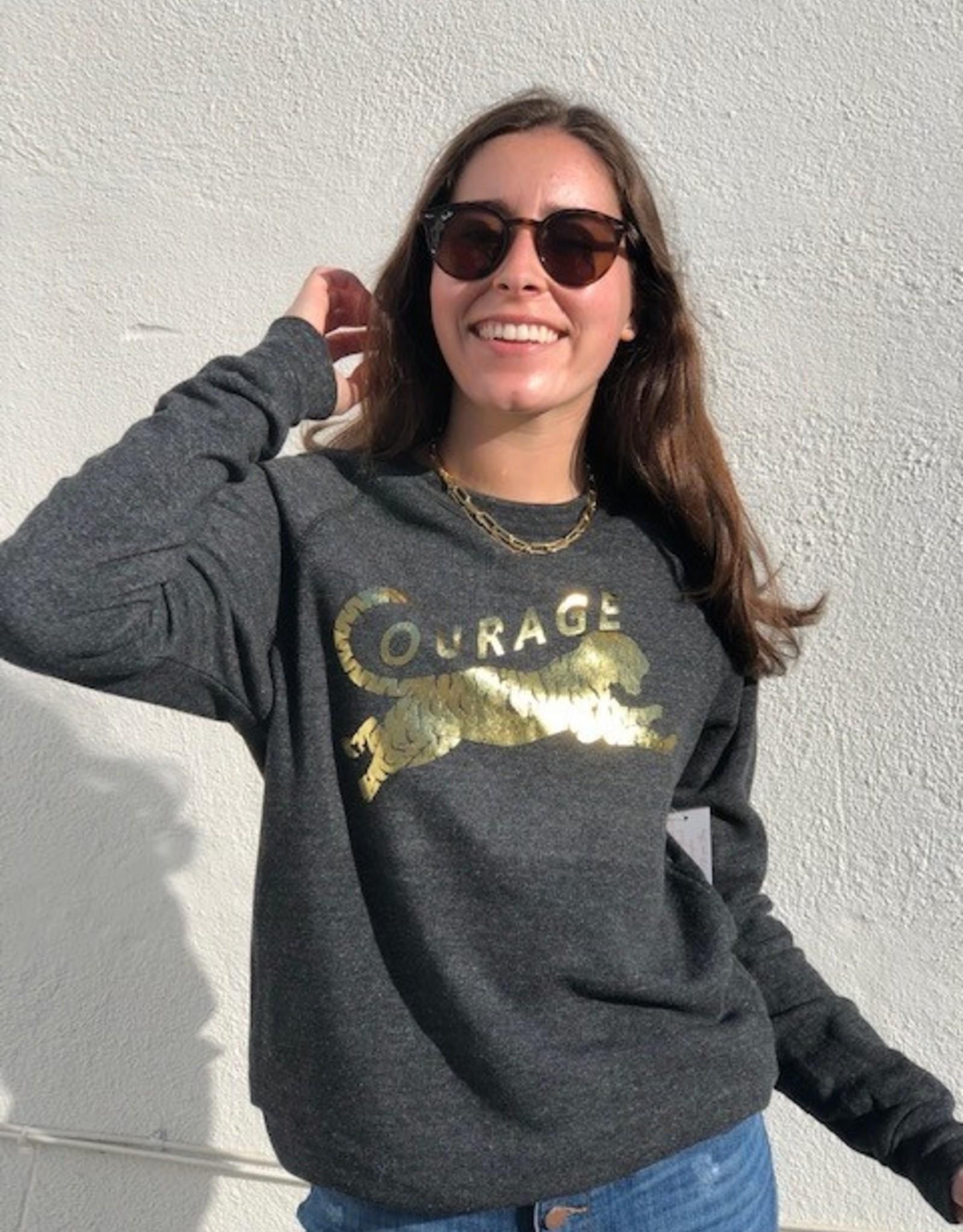 I Am I Am Courage Sweatshirt Charcoal