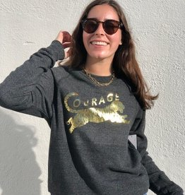I Am I Am Courage Sweatshirt Charcoal