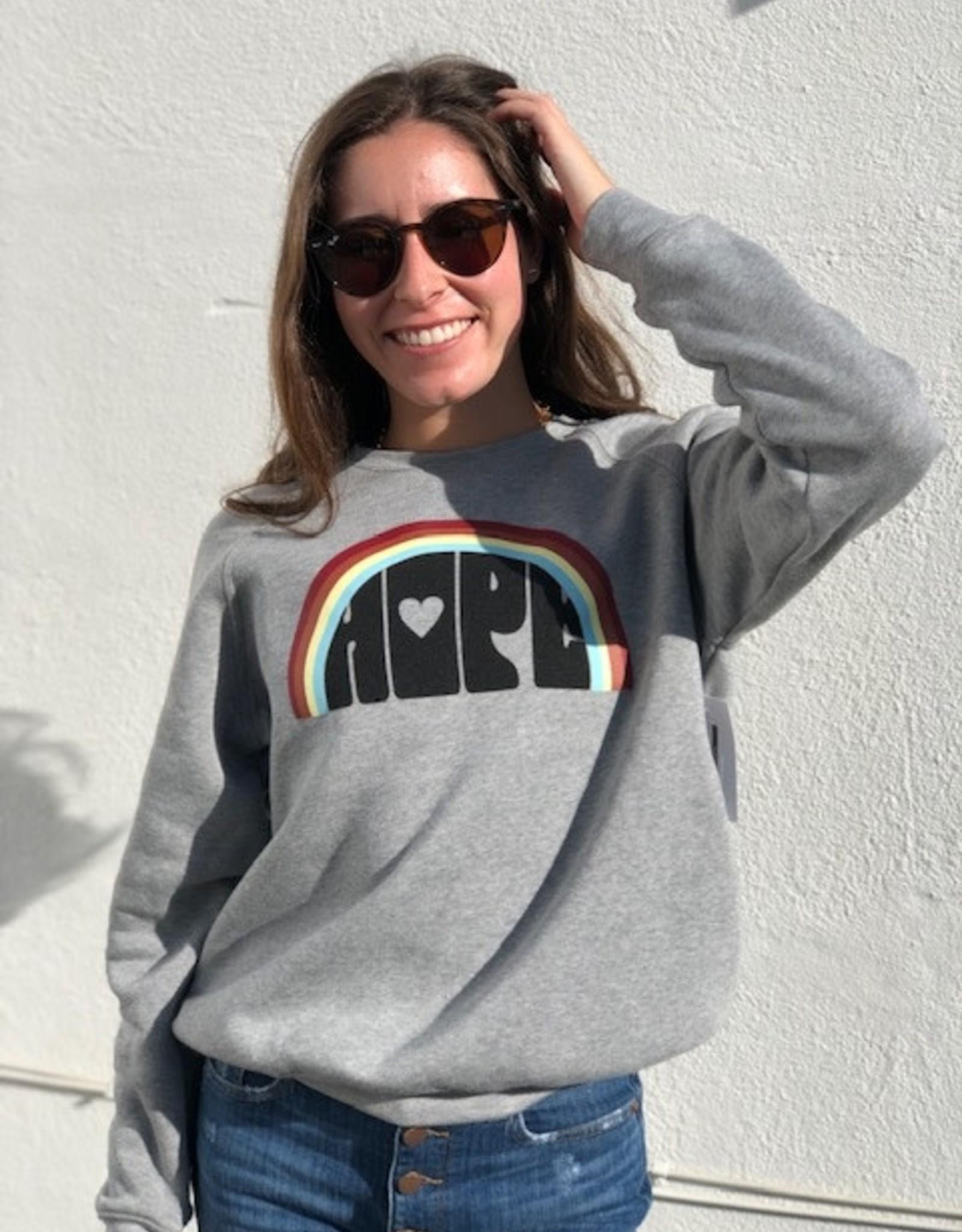 I Am I Am Hope Sweatshirt Grey