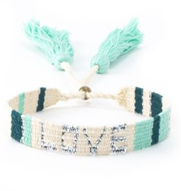 Love is Project Love is Project Atitlan Love Bracelet Green