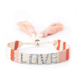 Love is Project Love is Project Atitlan Love Bracelet Peach