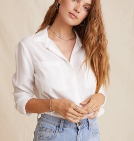 Bella Dahl Bella Dahl Two Pocket Classic Shirt White
