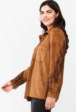 Velvet Heart Velvet Heart Aldona Faux Suede Fringe Shirt