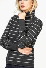 Lilla P Lilla P Turtleneck Sweater Graphite