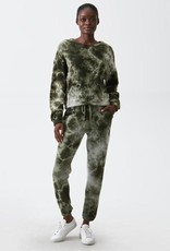 Michael Stars Michael Stars Ezra Sweatshirt Dark Matcha Tie Dye