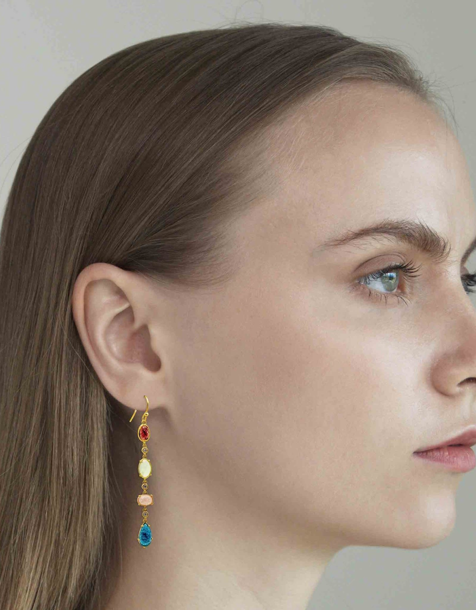 Tai Jewelry Tai 4 Stone Drop Earring PE-9957-1