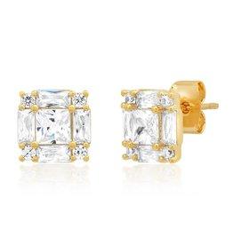 Tai Jewelry Tai Princess Cut Studs TE-3094