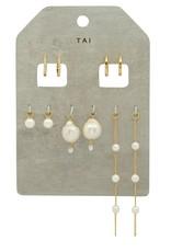 Tai Jewelry Tai Pearl Huggie Pack TE-2655-G