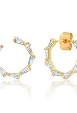 Tai Jewelry Tai Baguette Front Facing Hoop TE-3093