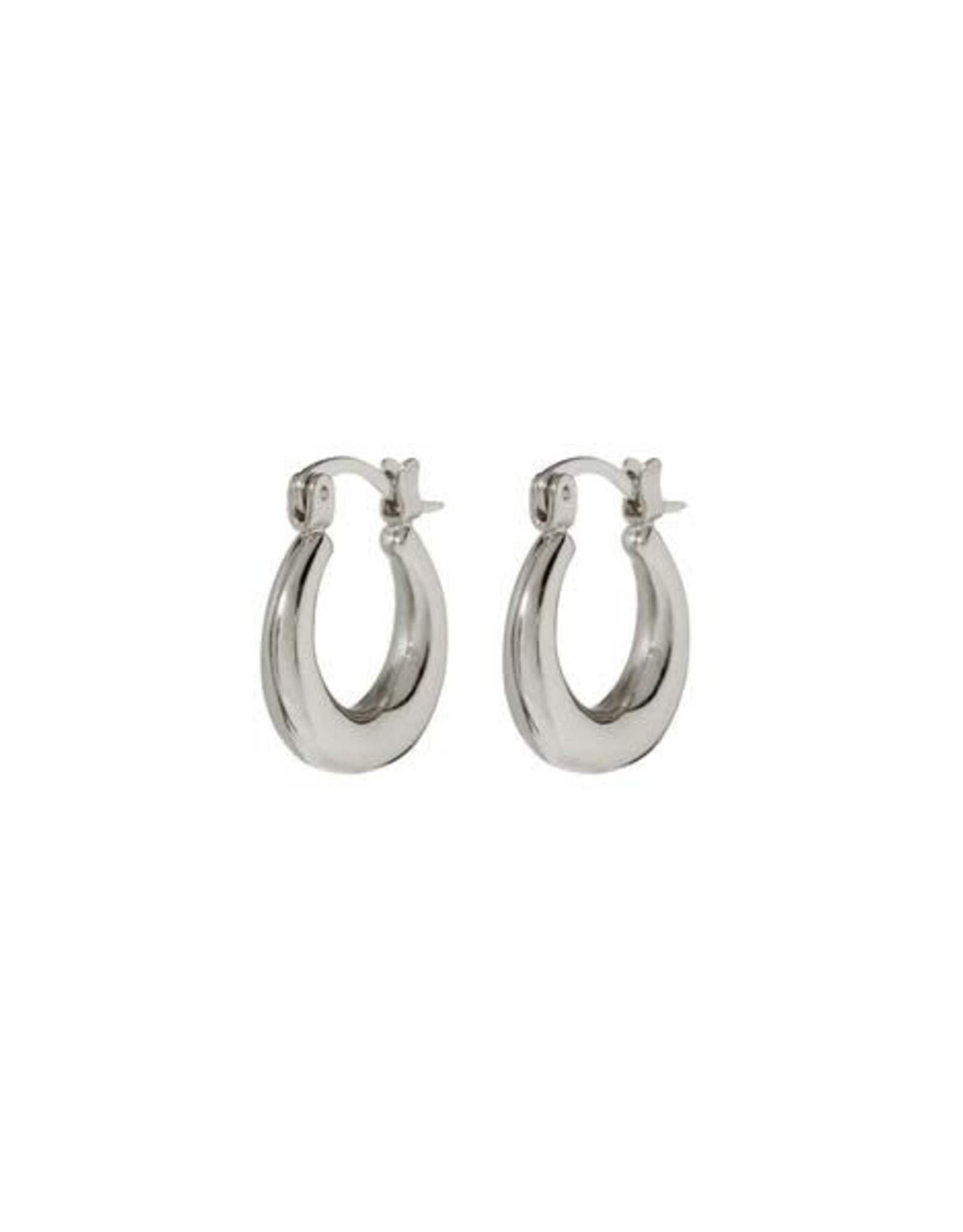 LUV AJ LUV AJ Mini Martina Hoops Silver