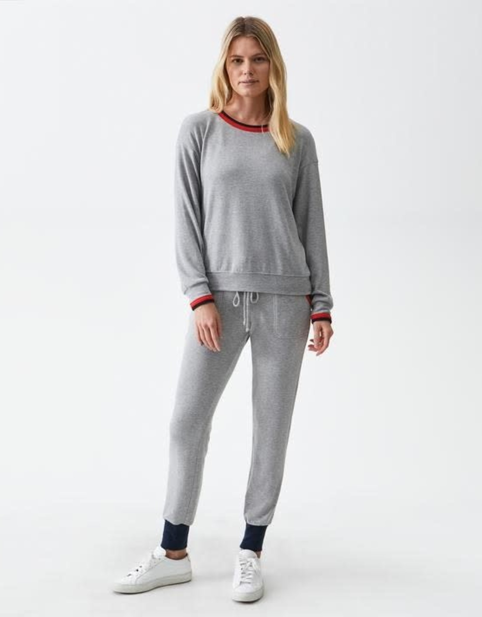 Michael Stars Michael Stars Madison Tate Sweatshirt Heather Grey/Admiral