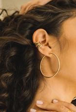 Jurate Brown Jurate Selena Hoop Earring Gold