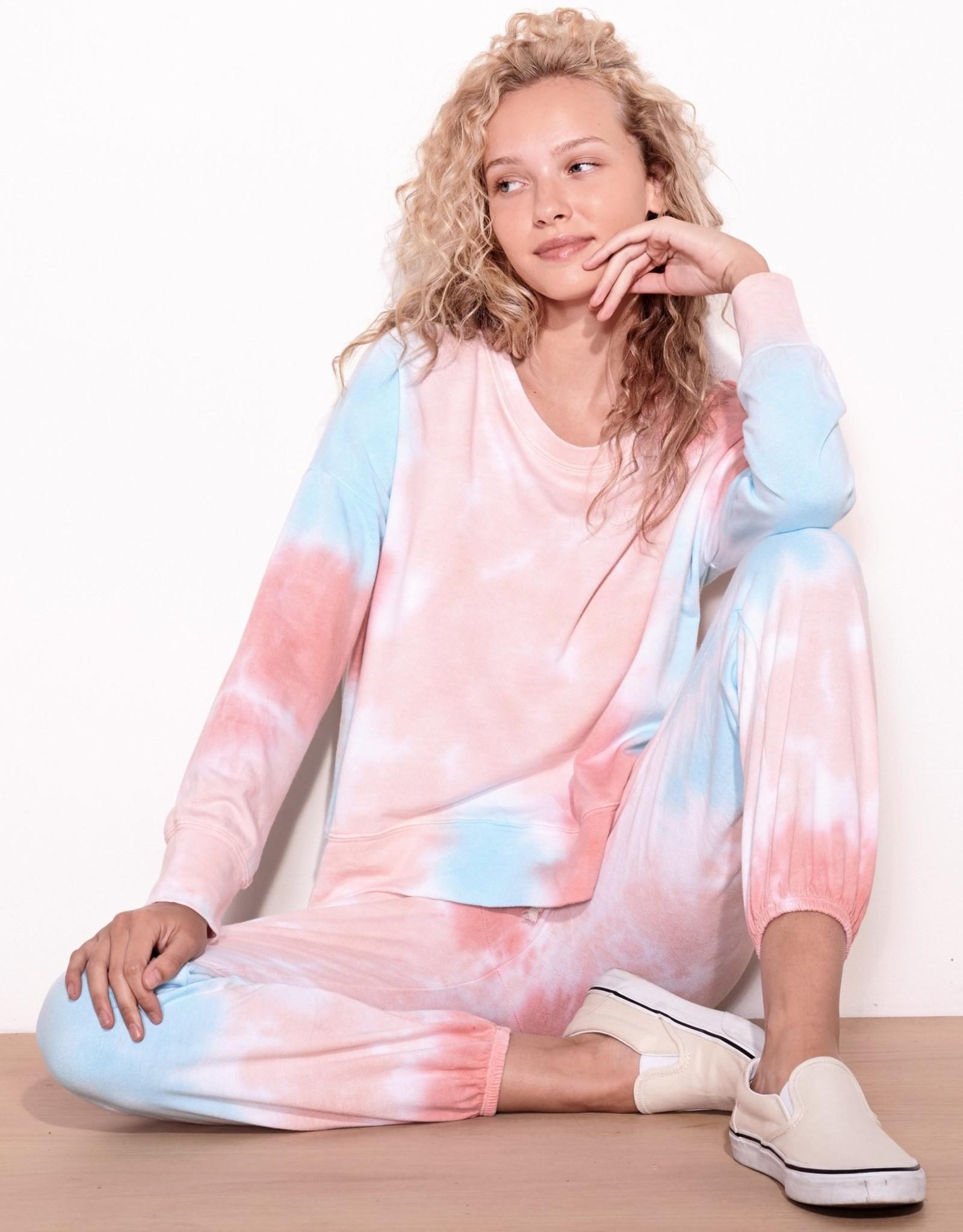 Sundry Sundry Multicolor Tie Dye Oversized Sweatshirt
