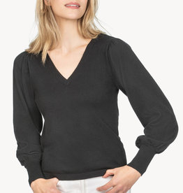 Lilla P Lilla P Puff Sleeve Sweater Black