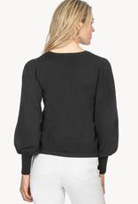 Lilla P Lilla P Puff Sleeve Sweater Black