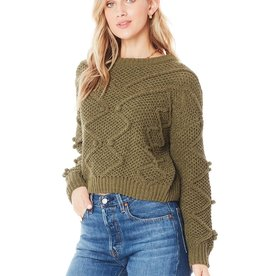 Saltwater Luxe Saltwater Crew Cable Sweater