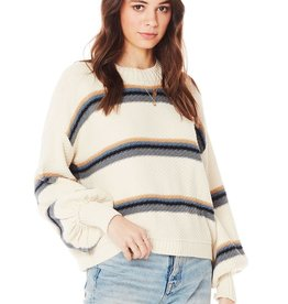 Saltwater Luxe Saltwater Rylin Mock Neck Stripe Sweater