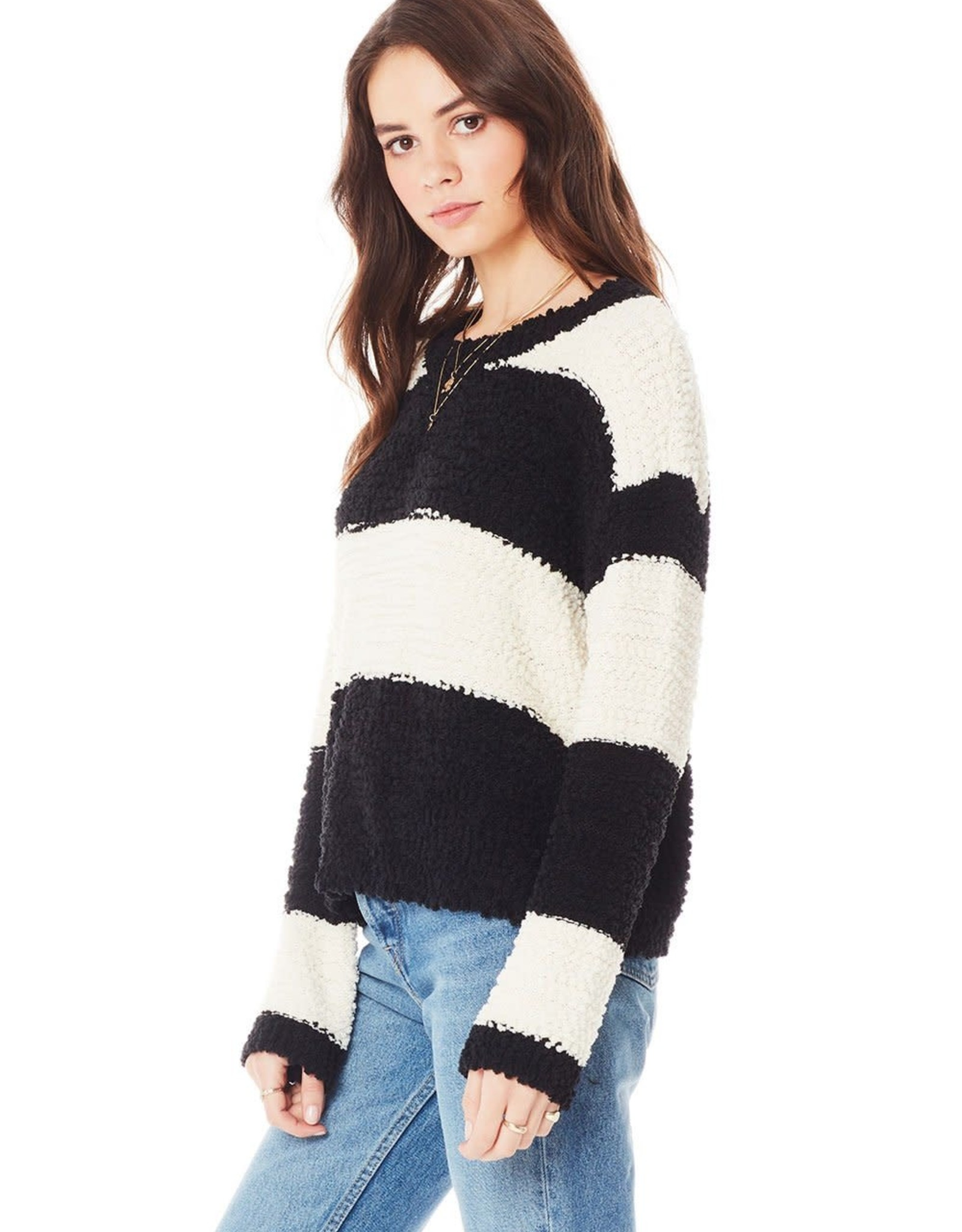 Saltwater Luxe Saltwater Jane Drop Shoulder Stripe Sweater