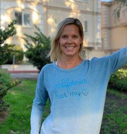 I Am I AM Cali Has My Heart Sweatshirt Blue Ombre