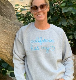 I Am I AM Cali Has My Heart Sweatshirt Grey