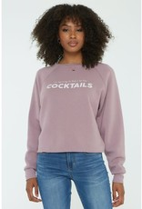 """Project Social T Project Social Tee """"It's Beginning to Look a lot like Cocktails"""" Sweatshirt"""