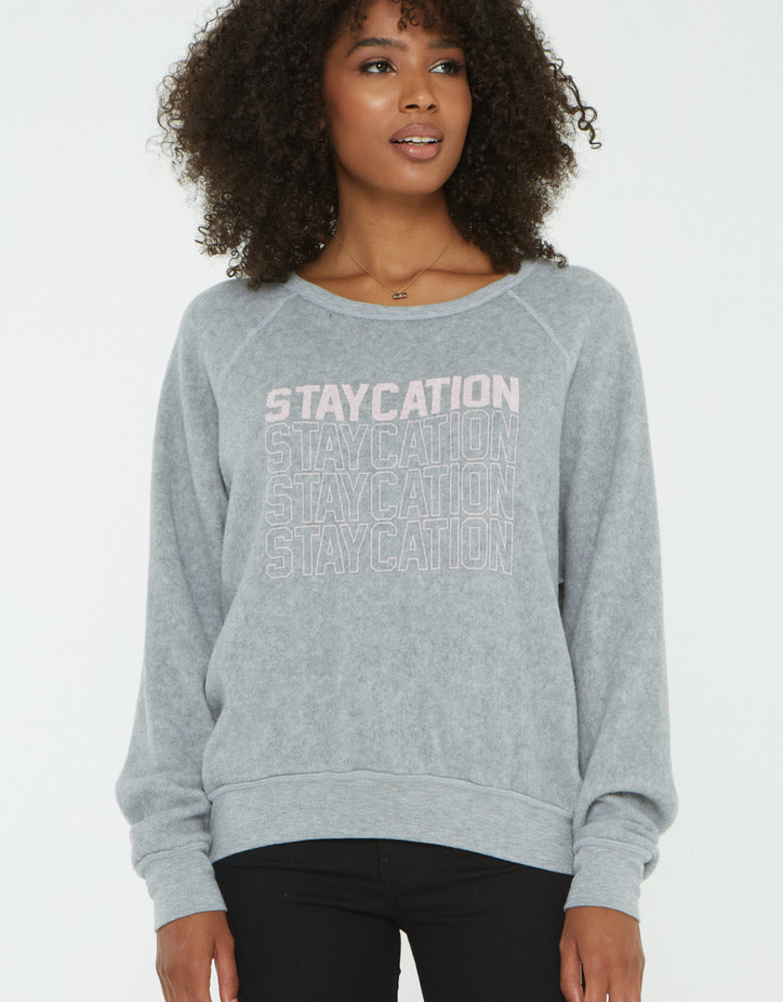 Project Social T Project Social Tee  Staycation/Vacation Reversible Sweatshirt