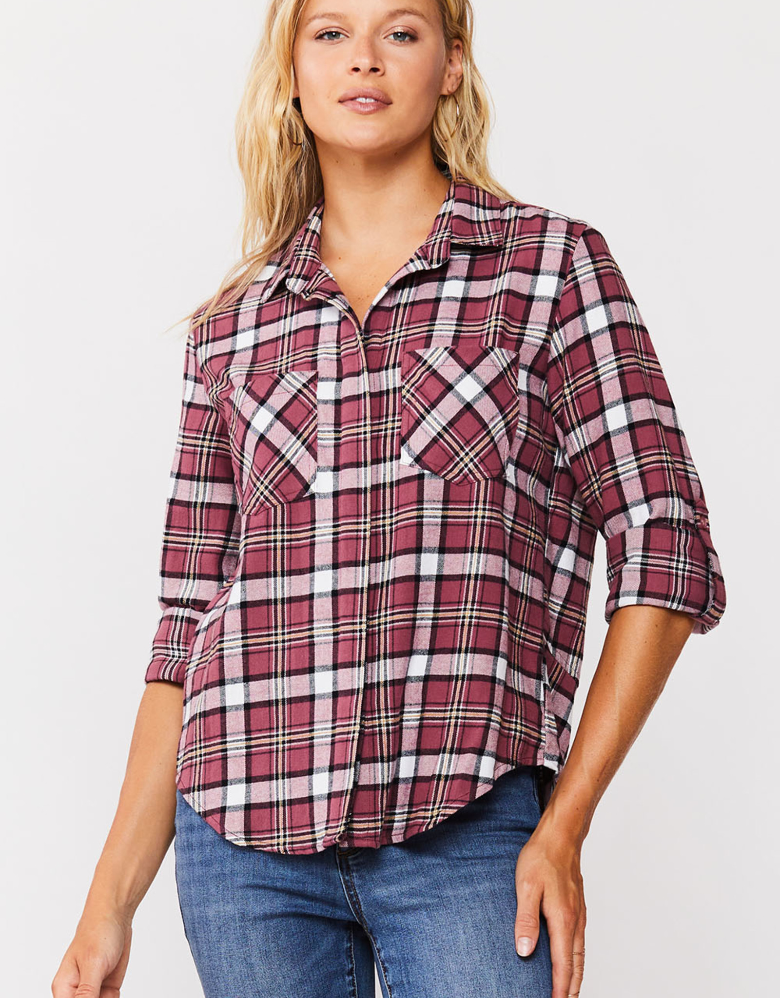 Velvet Heart Velvet Heart Riley Shirt Mauve Plaid