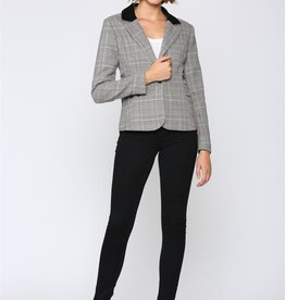 Fate Fate Plaid Blazer Grey