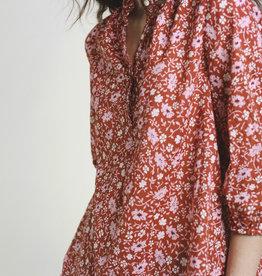 Trovata Trovata Sara Henley Shirt Rose Floral