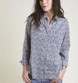 Trovata Trovata Grace Classic Shirt Navy Floral