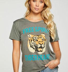 "Chaser Chaser Crew Tee ""Spirit Tiger"" Safari"