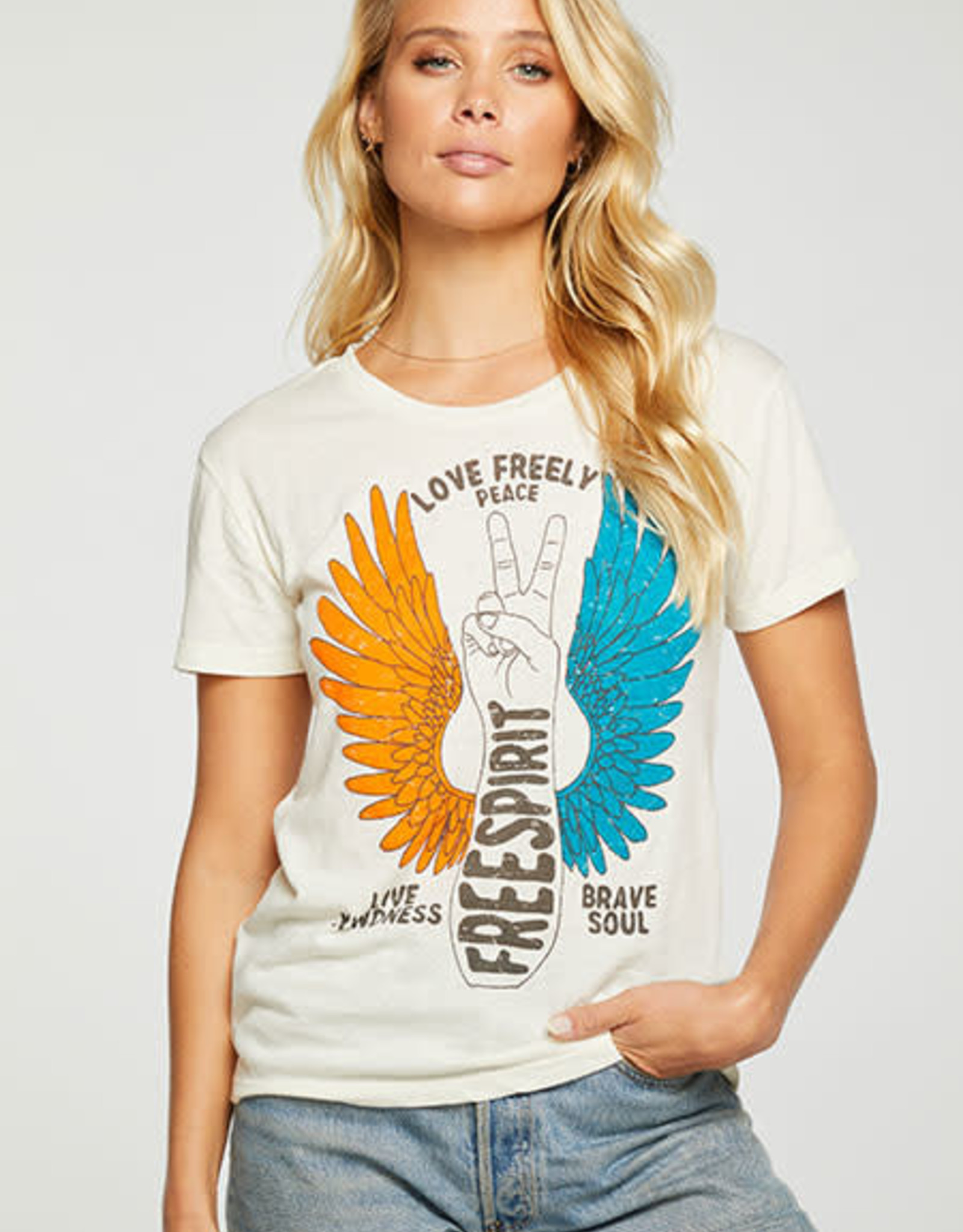 "Chaser Chaser Crew Tee ""Wings of Peace"""
