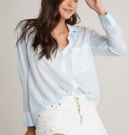 Bella Dahl Bella Dahl Boxy Button Down Silver Cloud