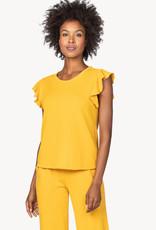 Lilla P Lilla P Ruffle Sleeve Sweatshirt Marigold