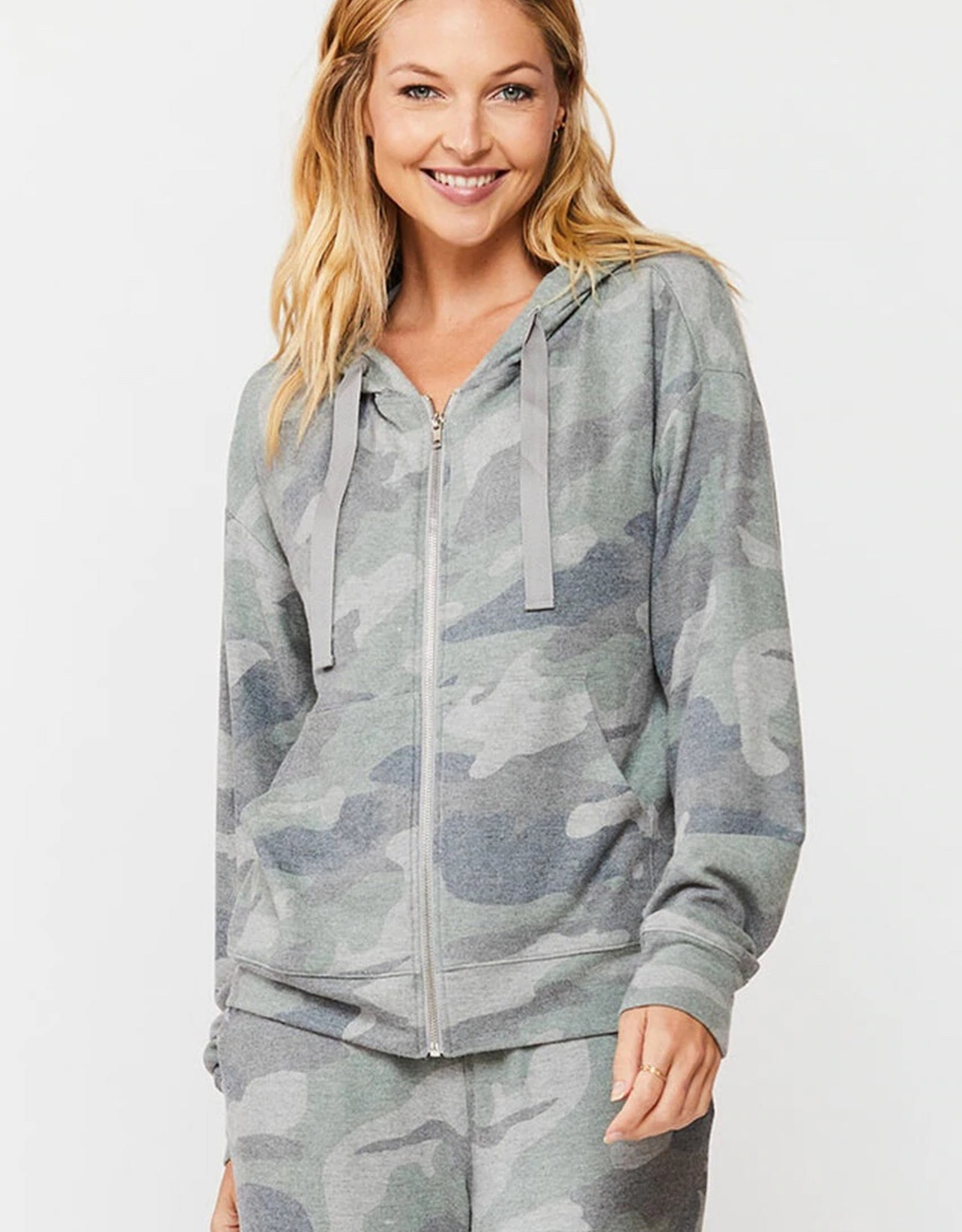 Velvet Heart Velvet Heart Hollace Camo Hooded Zip Up