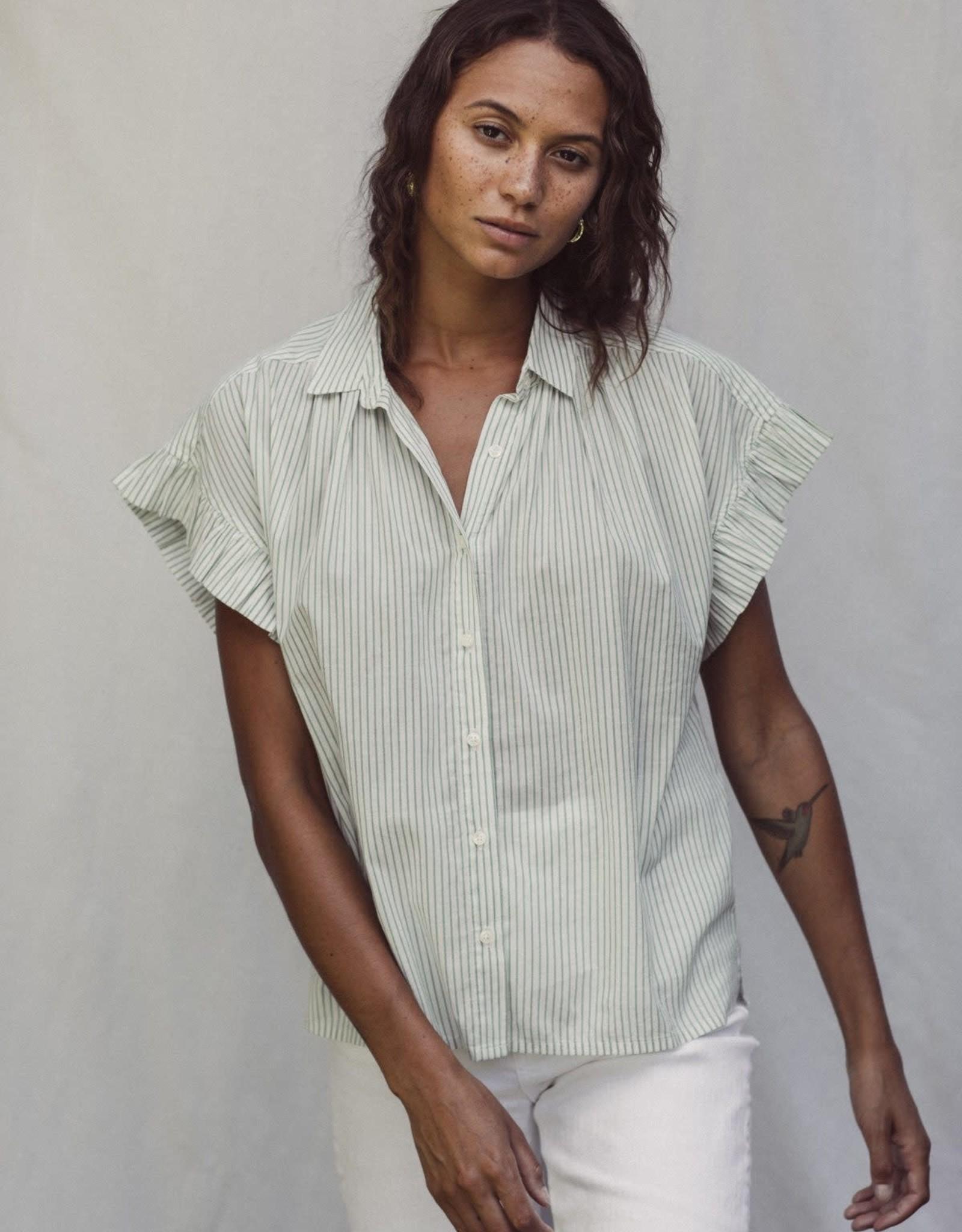 Trovata Trovata Marianne Ruffle Sleeve Blouse Green